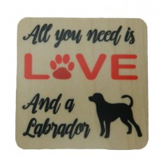 Love Labrador Wooden Fridge Magnet