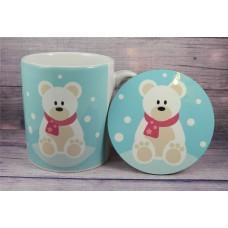 Christmas Mug and Coaster - Polar Bear
