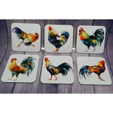 Coaster Set - Roosters