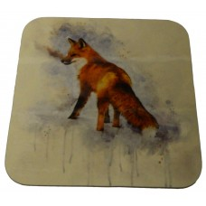 Coaster - Fox in watercolour