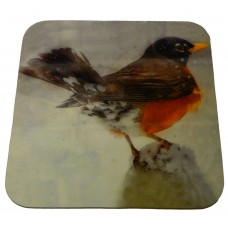 Coaster - Robin in watercolour