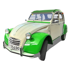 Citroen 2CV - White Green